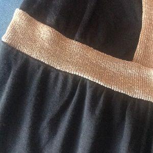 Rebecca Beeson Tops - Rebecca Beeson Black Gold Low V neck tank